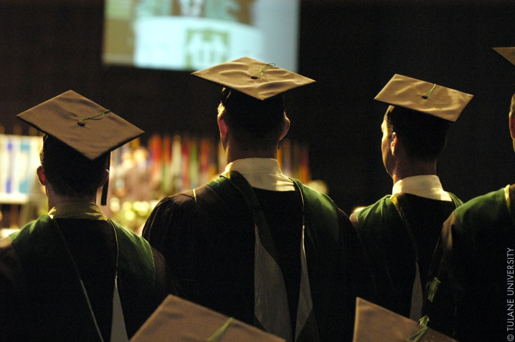 "Image: ""Graduation (3619788118)"" by Tulane Public Relations - GraduationUploaded by AlbertHerring. Licensed under CC BY 2.0 via Wikimedia Commons."