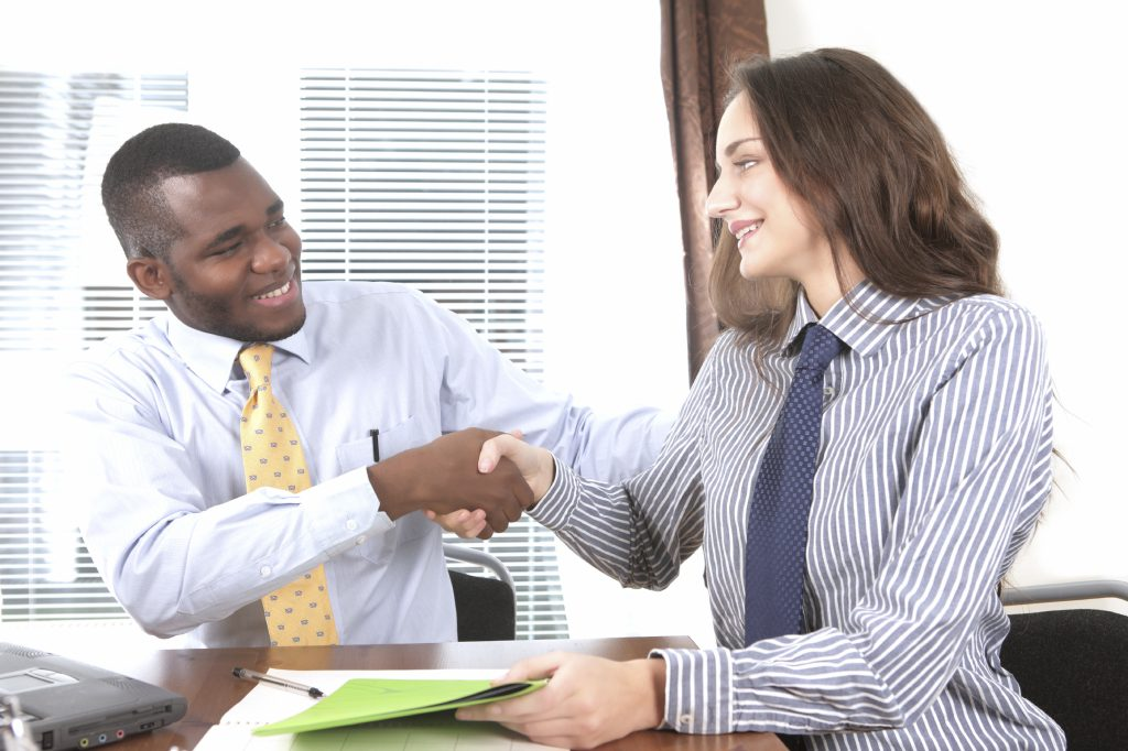 Congratulations, you're hired! says the manager to selected candidate
